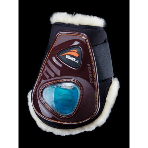 eShock Rear Velcro Fluffy Horse Boots eQuick