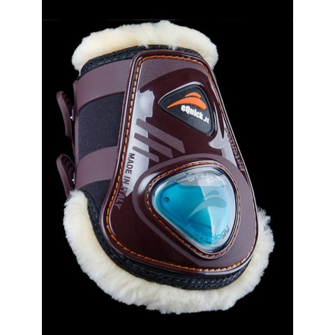 eShock Rear Fluffy Horse Boots eQuick
