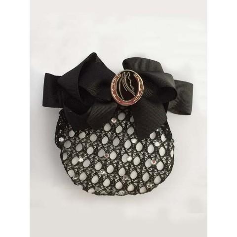 Tattini Glittering Black Hairnet