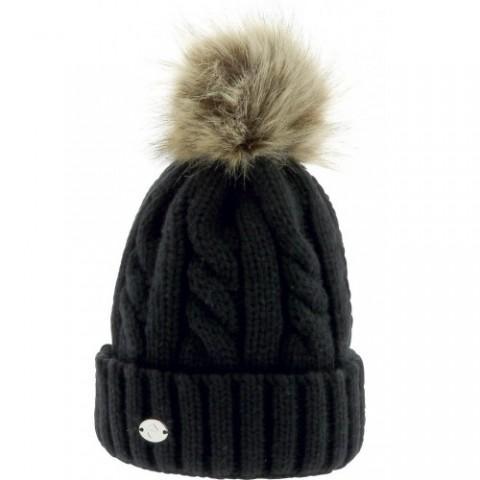 """EQUITHÈME """"Torsades"""" pom-pom knitted hat"""