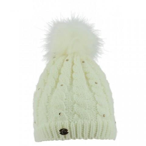 """EQUITHÈME """"Paillettes"""" Knitted Bobble Hat"""