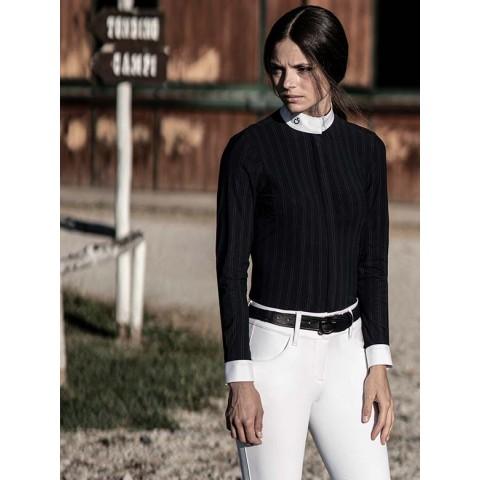 Camisa Concurso Mujer con Rayas Cavalleria Toscana - CAD141