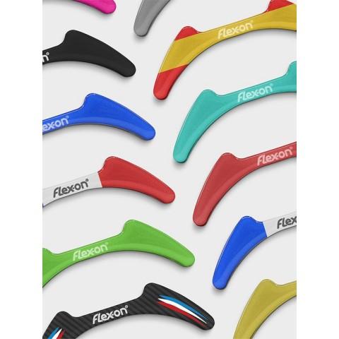 Green Composite Stirrups and Aluminium Stirrups Stickers (Pair) Flex-On