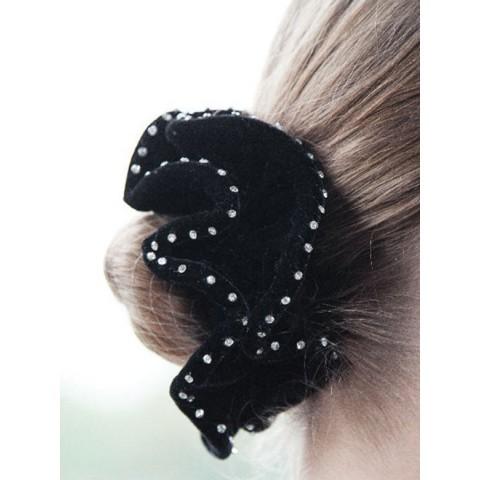 Hair Scrunchie Velvet Crystal Equetech